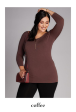 C'est Moi Clothing C'est Moi Bamboo Plus Size 3/4 Sleeve Top