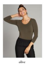 C'est Moi Clothing C'est Moi One Size 3/4 Sleeve Bamboo Bodysuit