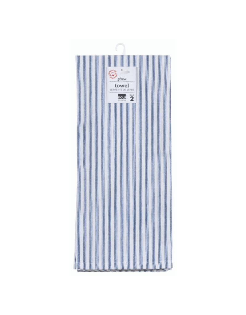 Set of 2 Glass Tea Towels Royal