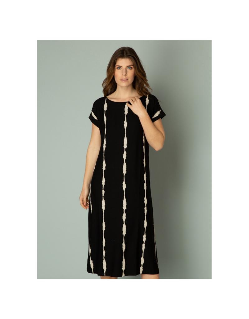 yest Isobel Jersey Dress in Black by Yest