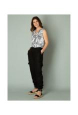 yest Inez Linen Jogger Pant in Black by Yest
