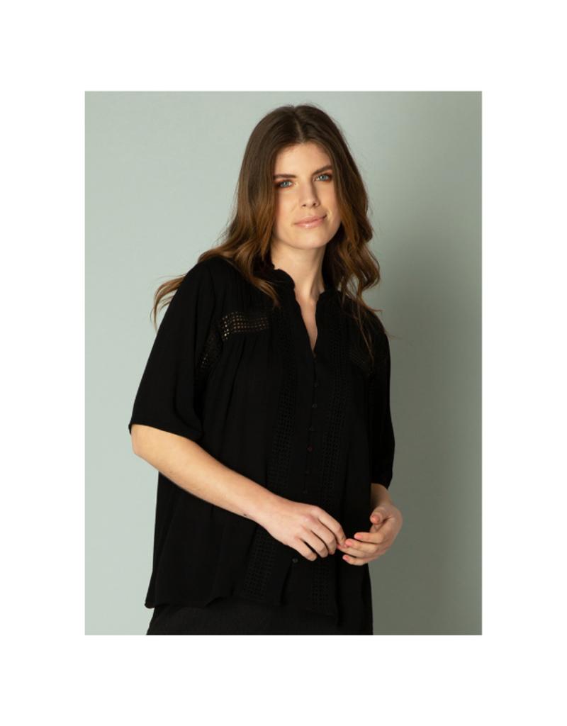 yest Illiana Blouse in Black by Yest