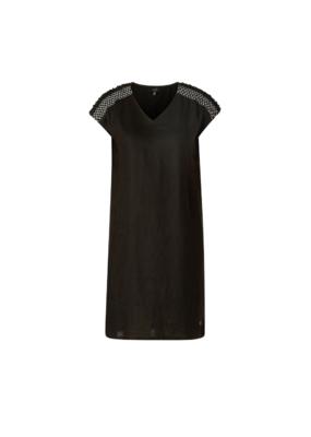 Lefke Linen Dress in Black by Yest
