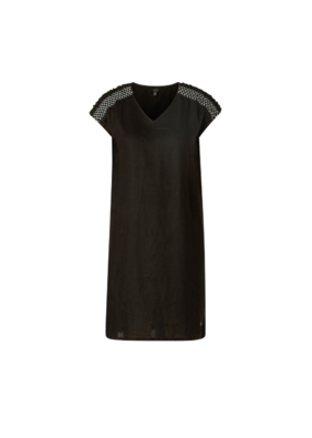 yest Lefke Linen Dress in Black by Yest