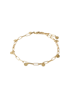 PILGRIM River Ankle Chain Gold-Plated by Pilgrim