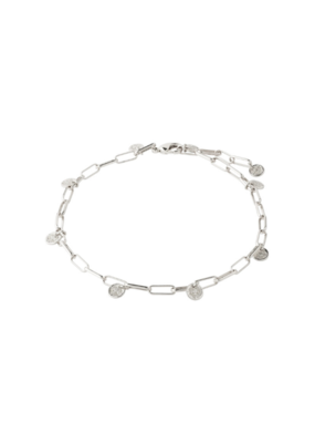 PILGRIM River Ankle Chain Silver-Plated by Pilgrim