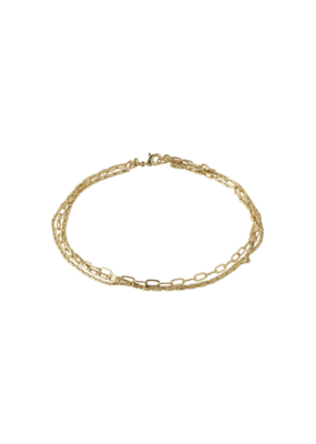 PILGRIM Thalia Ankle Chain Gold-Plated by Pilgrim