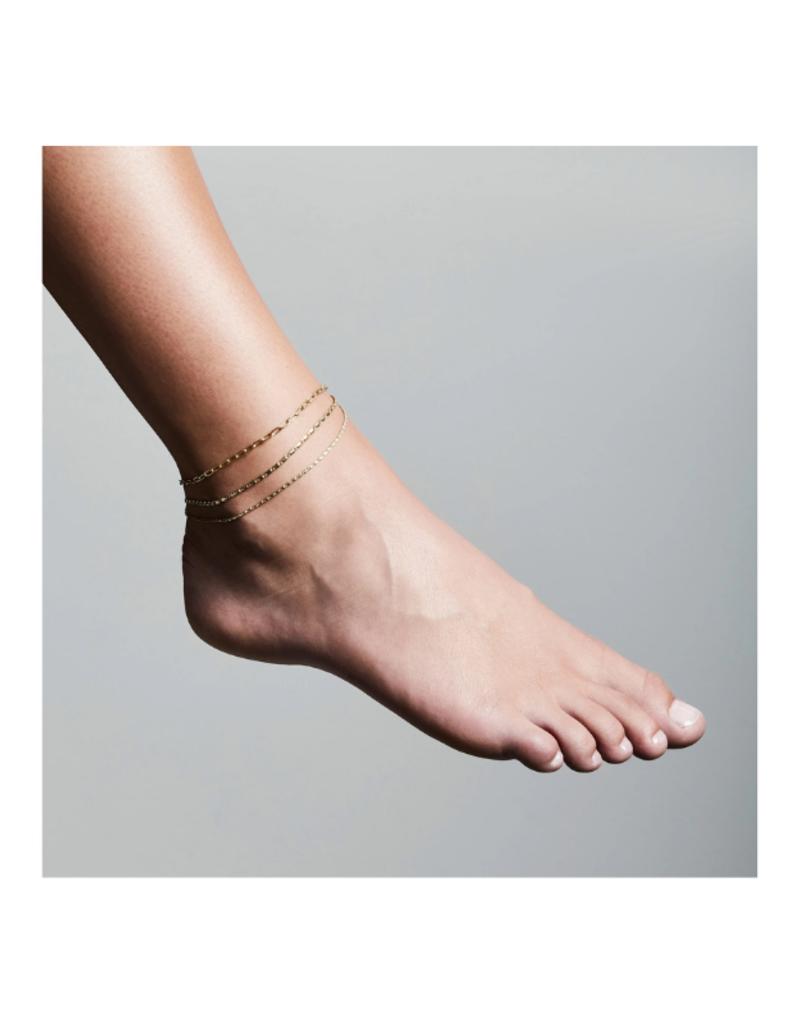 PILGRIM Thalia Ankle Chain Gold-Plated by Pilgrim