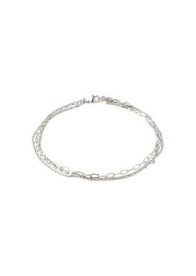 PILGRIM Thalia Ankle Chain Silver-Plated by Pilgrim