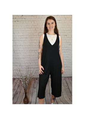 Jumpsuit with Tie in Black by Saba & Co