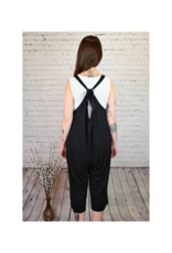 Saba & Co Jumpsuit with Tie in Black by Saba & Co