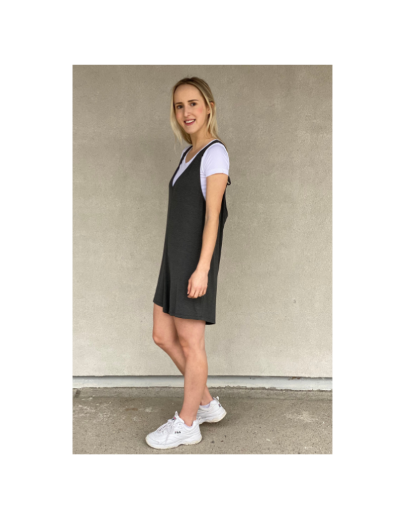 Saba & Co Romper in Charcoal by Saba & Co