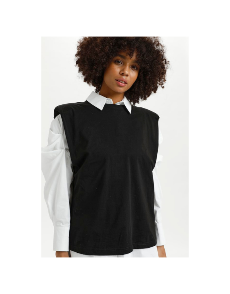 LOUNGE NINE Fiola T-Shirt in Pitch Black by Lounge Nine
