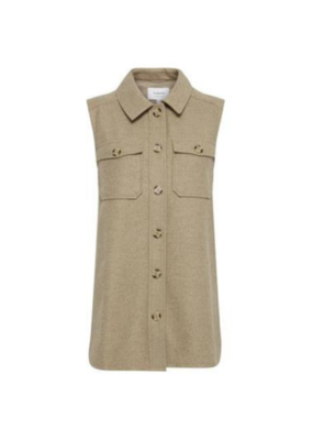 b.young Asja Vest in Incense Melange by b.young