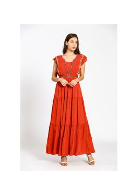 See U Soon Maxi Dress in Terracotta by See U Soon