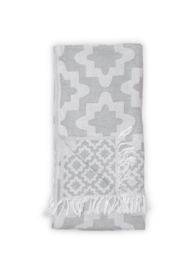 Palace Turkish Towel in Grey by Pokoloko