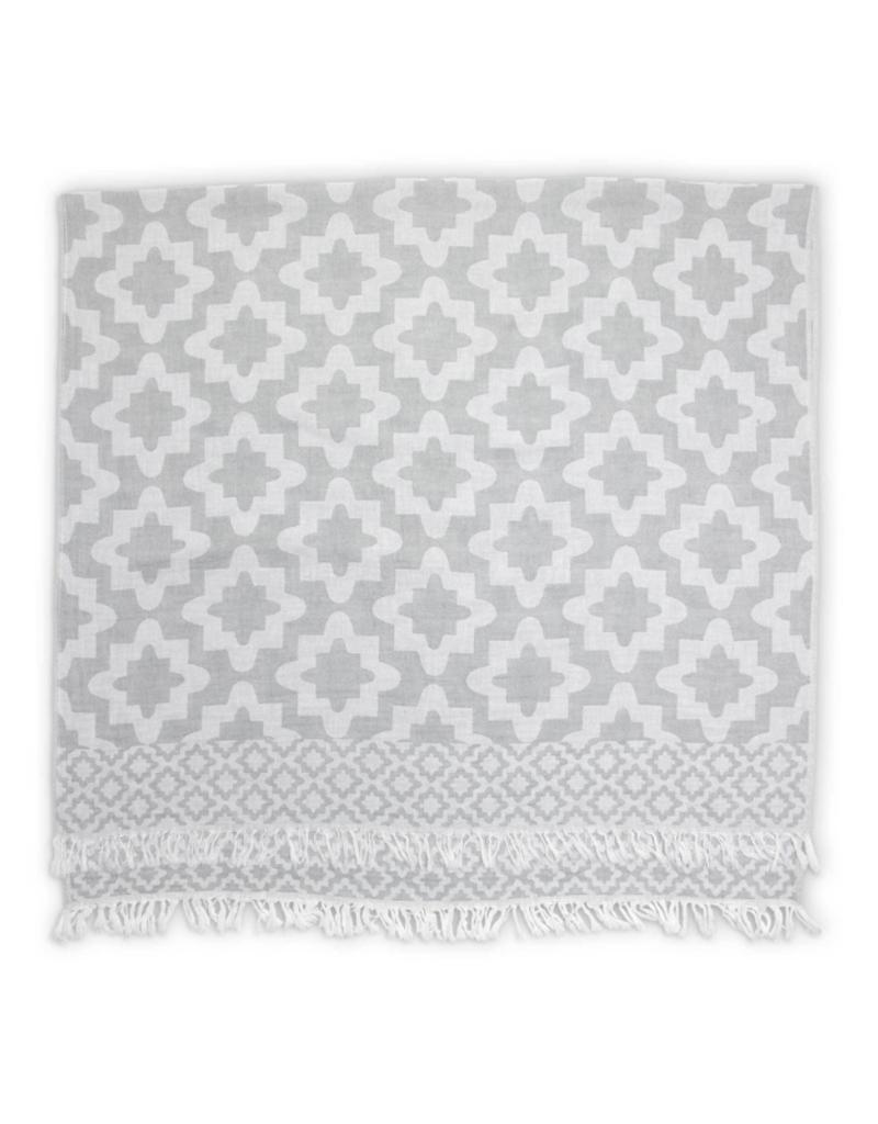 Palace Turkish Towel in Grey by Pokoloko
