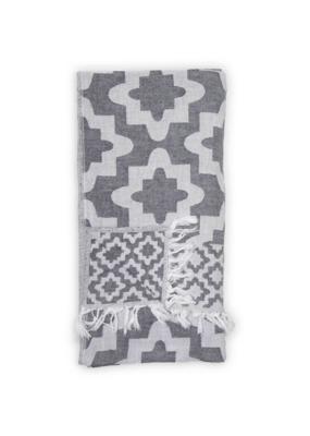 Pokoloko Palace Turkish Towel in Black by Pokoloko