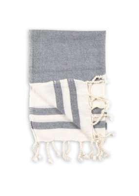 Turkish Hand Towel in Navy by Pokoloko