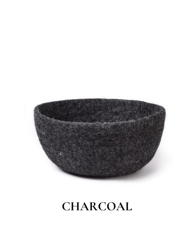 Felted Wool Large Storage Bowl