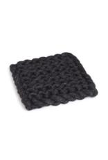 Chunky Knit Square Trivet Charcoal