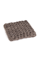 Chunky Knit Square Trivet Taupe