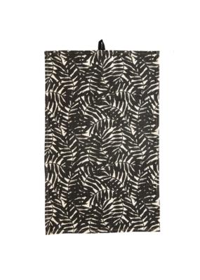 Cotton Tea Towel Black Palm