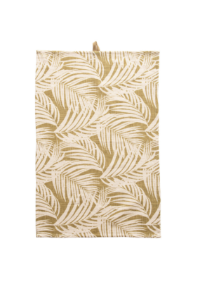 Cotton Tea Towel Tan Palm
