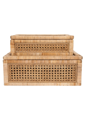 Woven Rattan Display Boxes