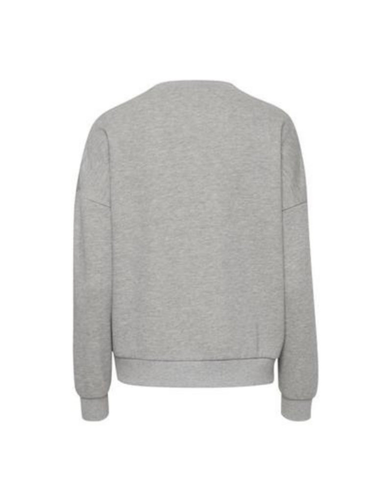 b.young Sophie Sweater  in Mid Grey Melange by b.young