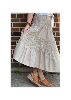 b.young Woven Vinga Skirt in  Oxford Tan by b.young