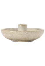 Stoneware Olive Dish W/Toothpick Holder