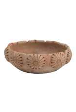Round Engraved Terracotta Bowl