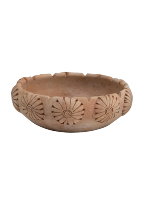 Round Engraved Terracotta Bowl