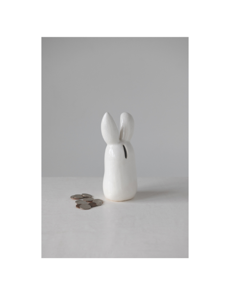 White Bunny Bank