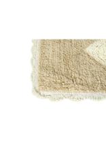 Tufted Hearts Tan & Cream Bathmat
