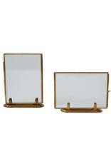"""Standing Glass Brass 5""""x7"""" Frame"""