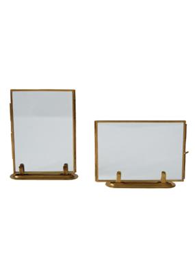 """Standing Glass Brass 5x7"""" Frame"""