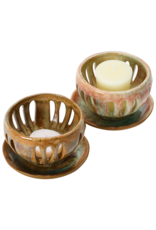 Stoneware Votive Holder with Saucer
