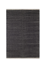 Dash & Albert Dash & Albert Herringbone Woven Cotton Rug in Black