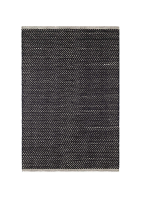 Dash & Albert Dash & Albert Herringbone Woven Cotton Rug in Black