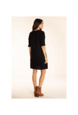 Crinkle Dress Black by Mod-O-Doc