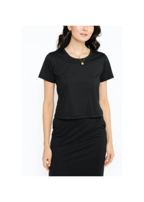 Smash + Tess Street To Chic Crop Top in Midnight Black by Smash + Tess