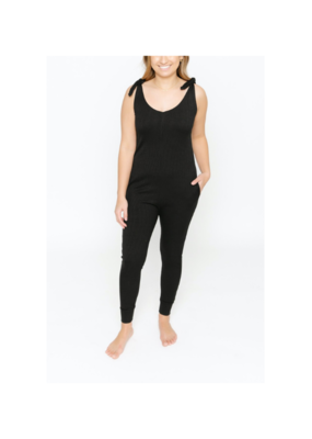 Smash + Tess Knot Your Average Romper in Midnight Black Smash + Tess