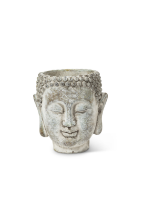 "Small Buddha Head Planter 5.5"""