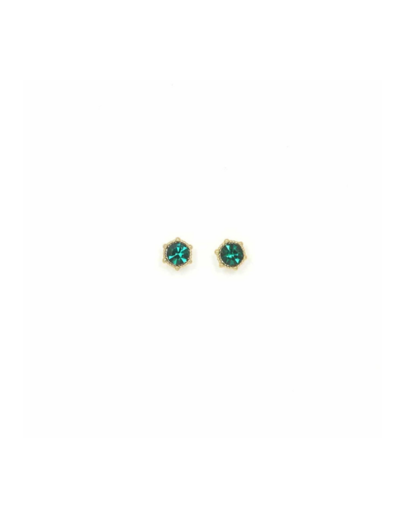 Lover's Tempo Astrid Stud Earrings in Emerald by Lover's Tempo