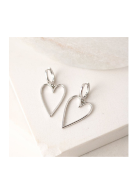 Lover's Tempo Lovestruck Heart Hoop Earrings Silver-Plated by Lover's Tempo