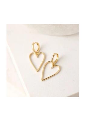 Lover's Tempo Lovestruck Heart Hoop Earrings Gold-Plated by Lover's Tempo
