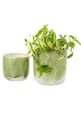 Indaba Trading Palette Pot Lime