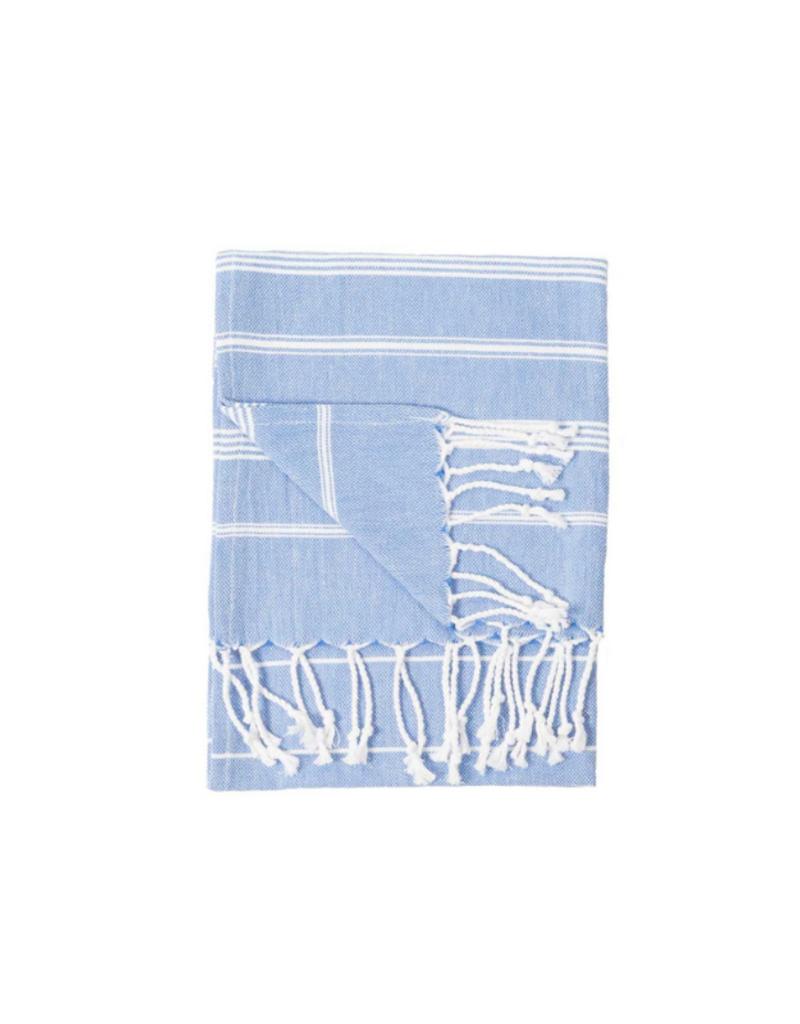 Pokoloko Turkish Hand Towel Sultan  Azure